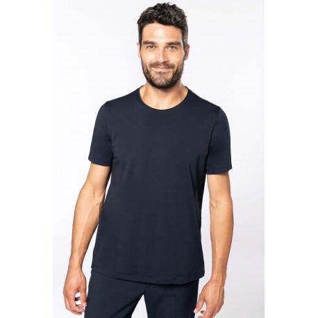 Kariban T-shirt bio col � bords francs manches courtes homme