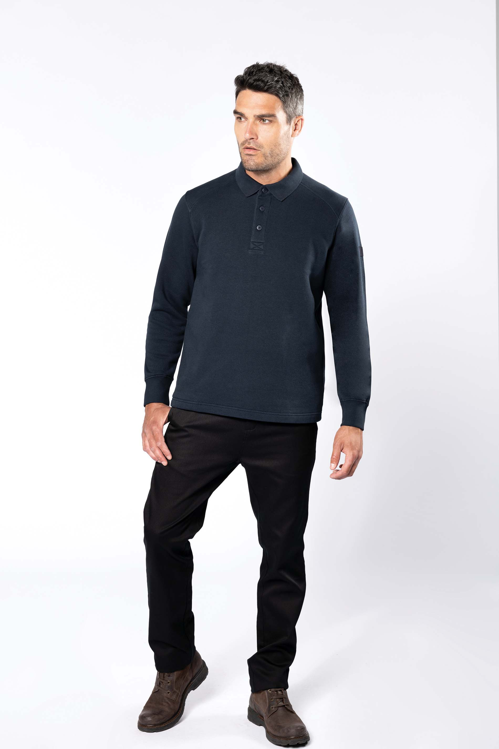 Kariban Sweat-shirt col polo