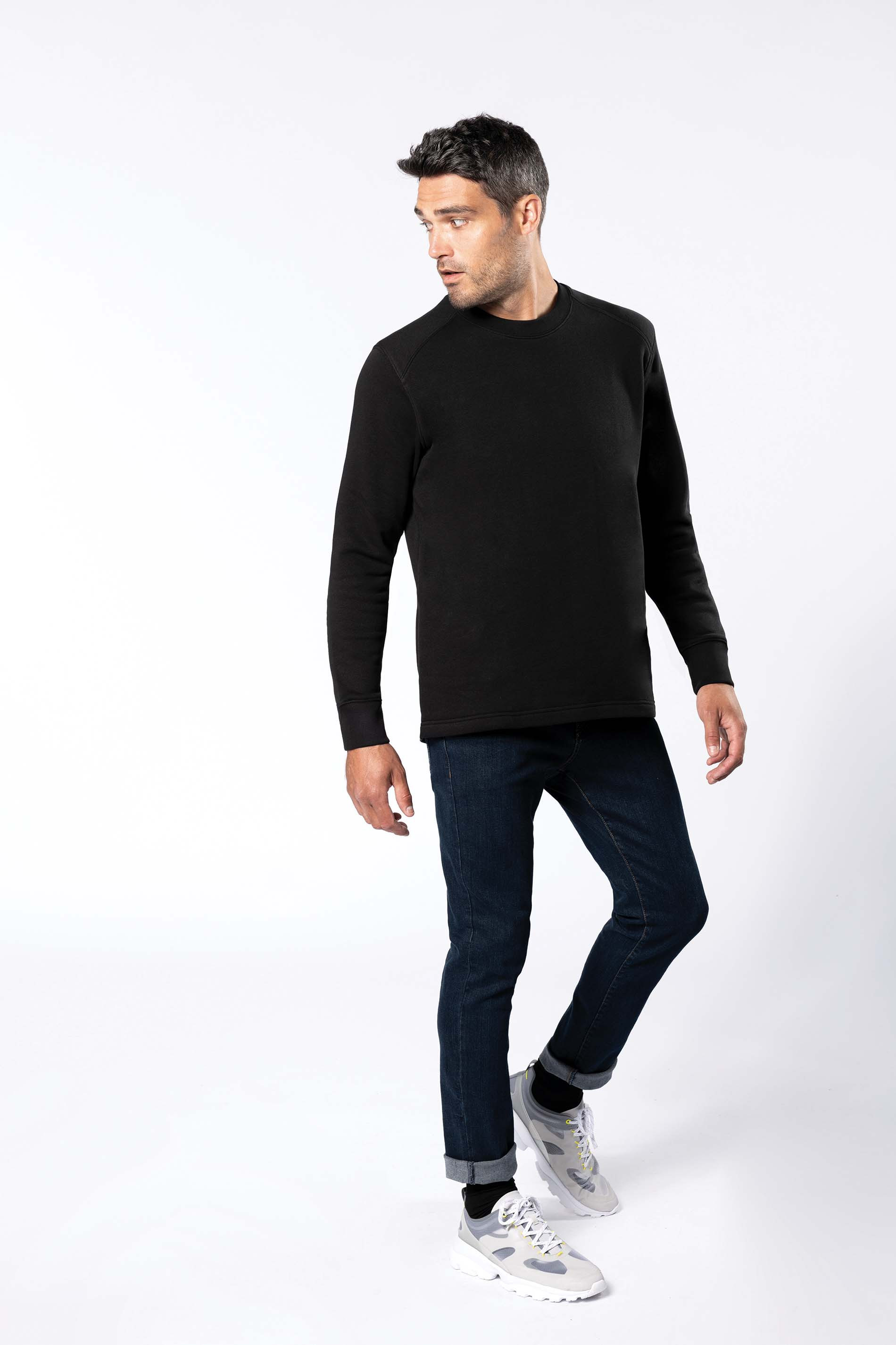 Kariban Sweat-shirt manches mont�es