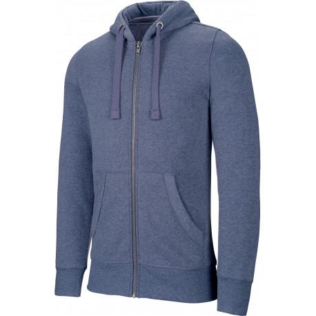 "Kariban Sweat-shirt zipp� capuche ""m�lange"" homme"
