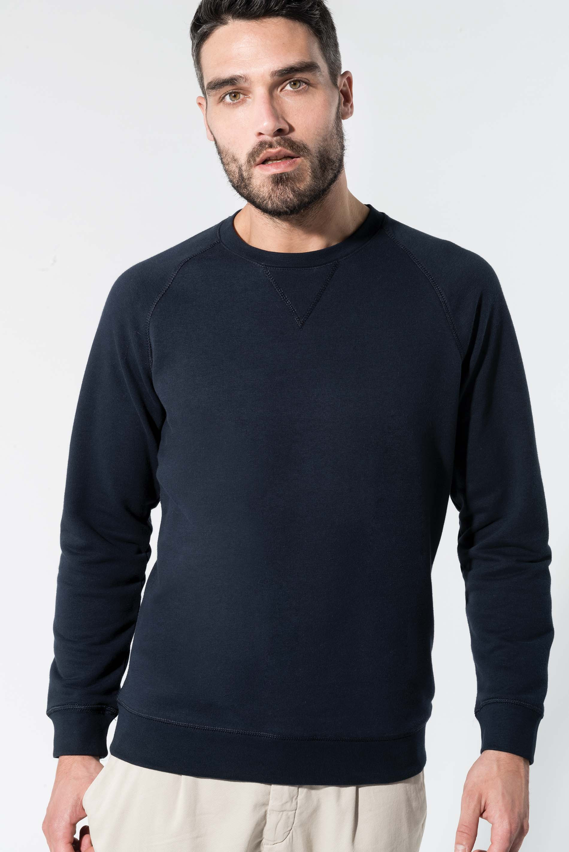 Kariban Sweat-shirt BIO col rond manches raglan homme