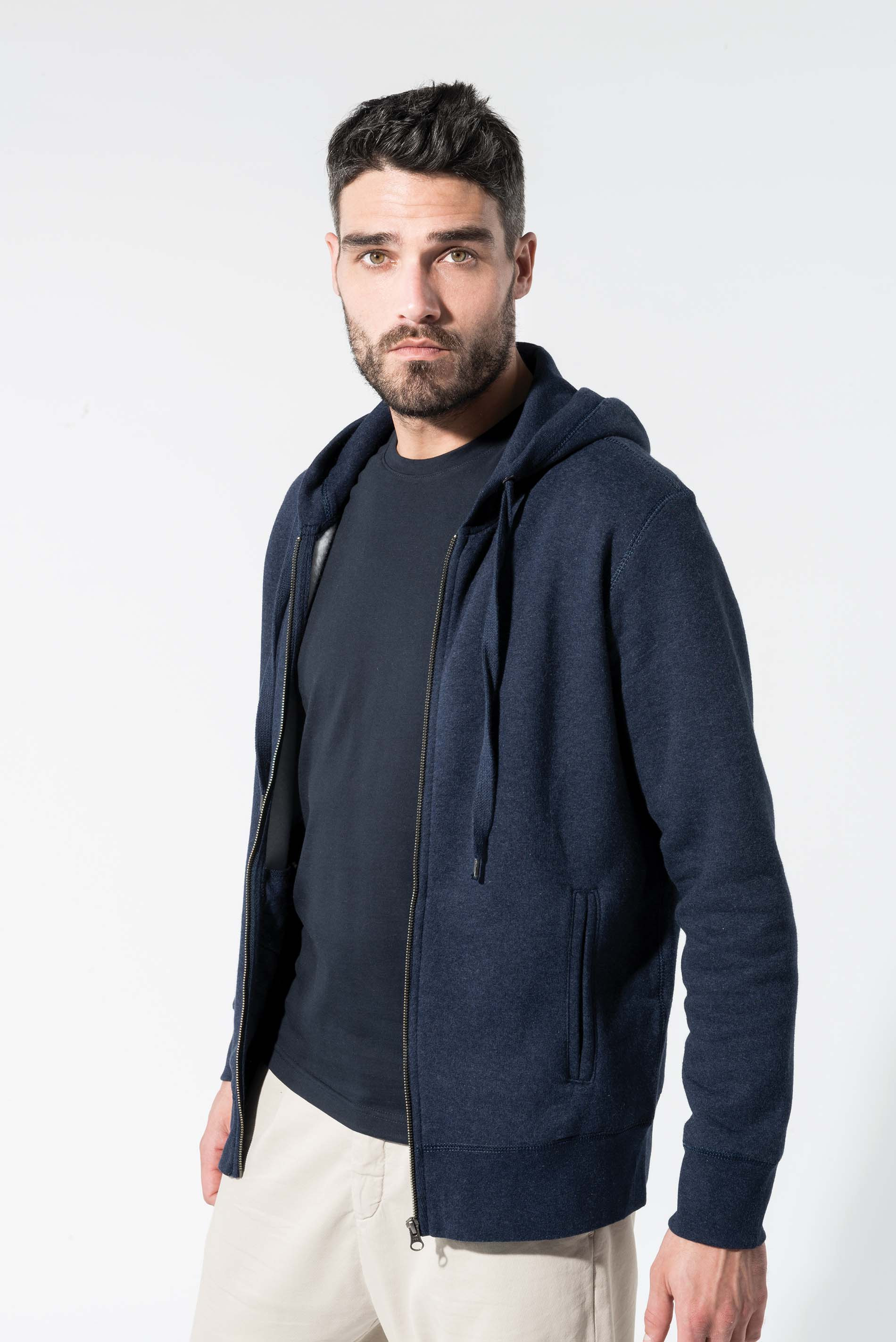 Kariban Sweat-shirt BIO zipp� capuche homme
