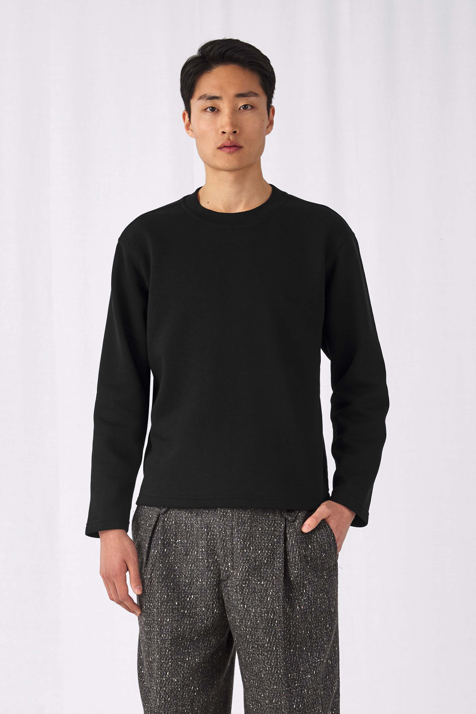 B&C SWEAT-SHIRT COUPE DROITE