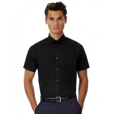B&C Black Tie SSL/men Poplin Shirt