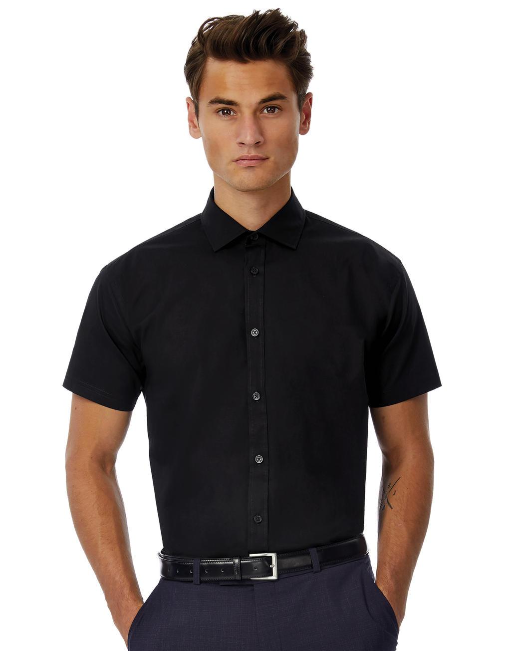 Black Tie SSL/men Poplin Shirt
