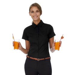B&C Black Tie SSL/women Poplin Shirt