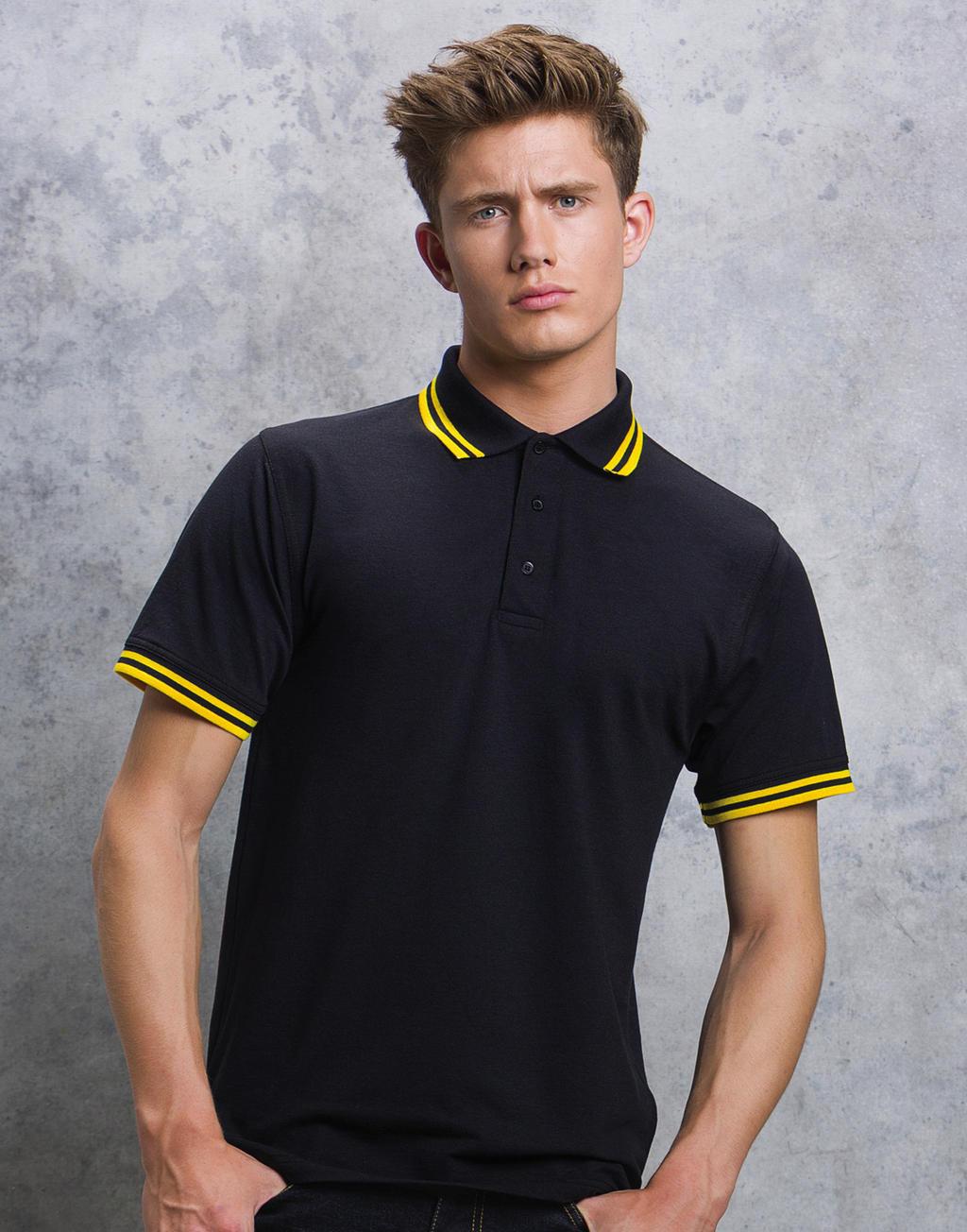 Kustom Kit Tipped Collar Polo