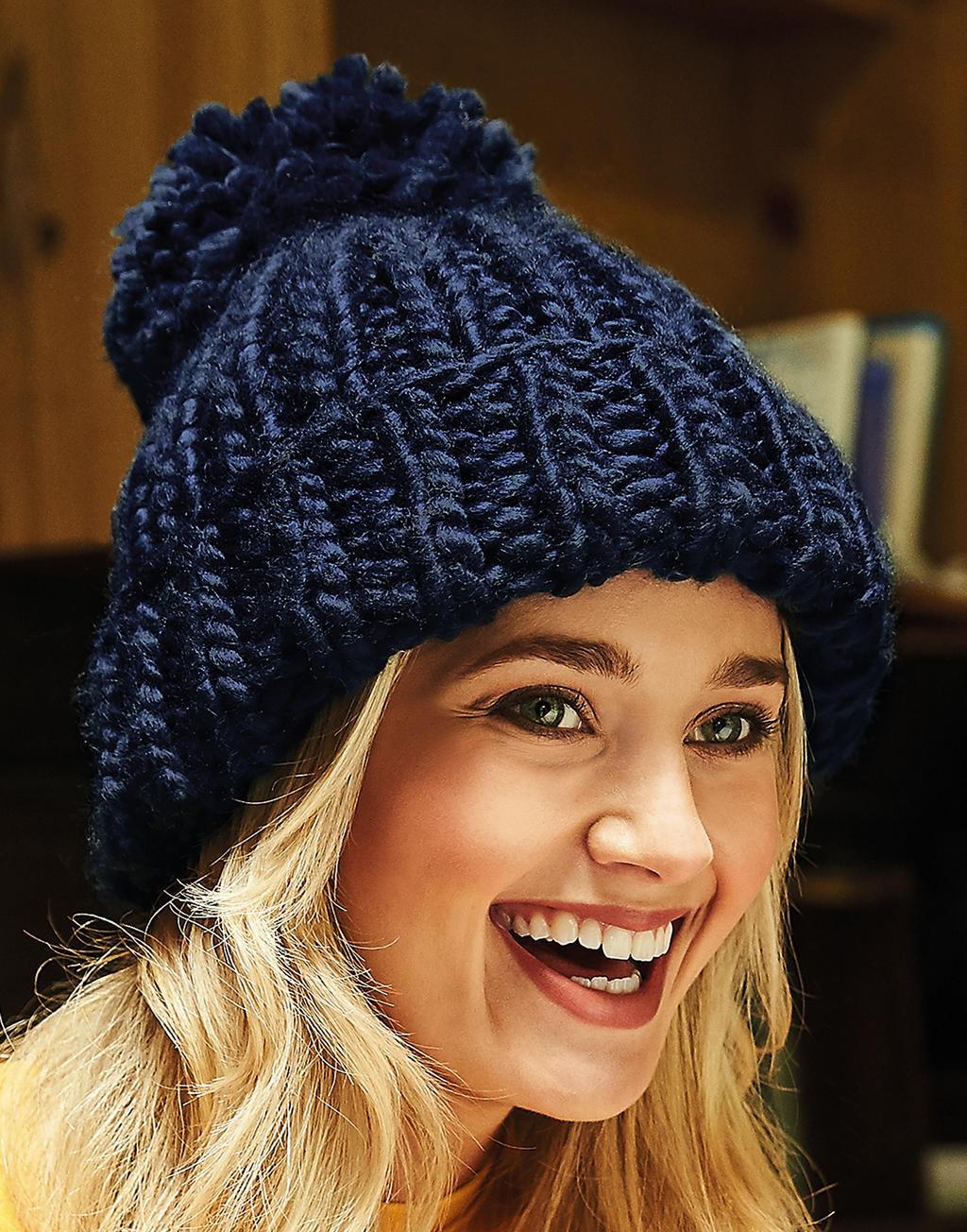Beechfield Bonnet Oversized tricoté main