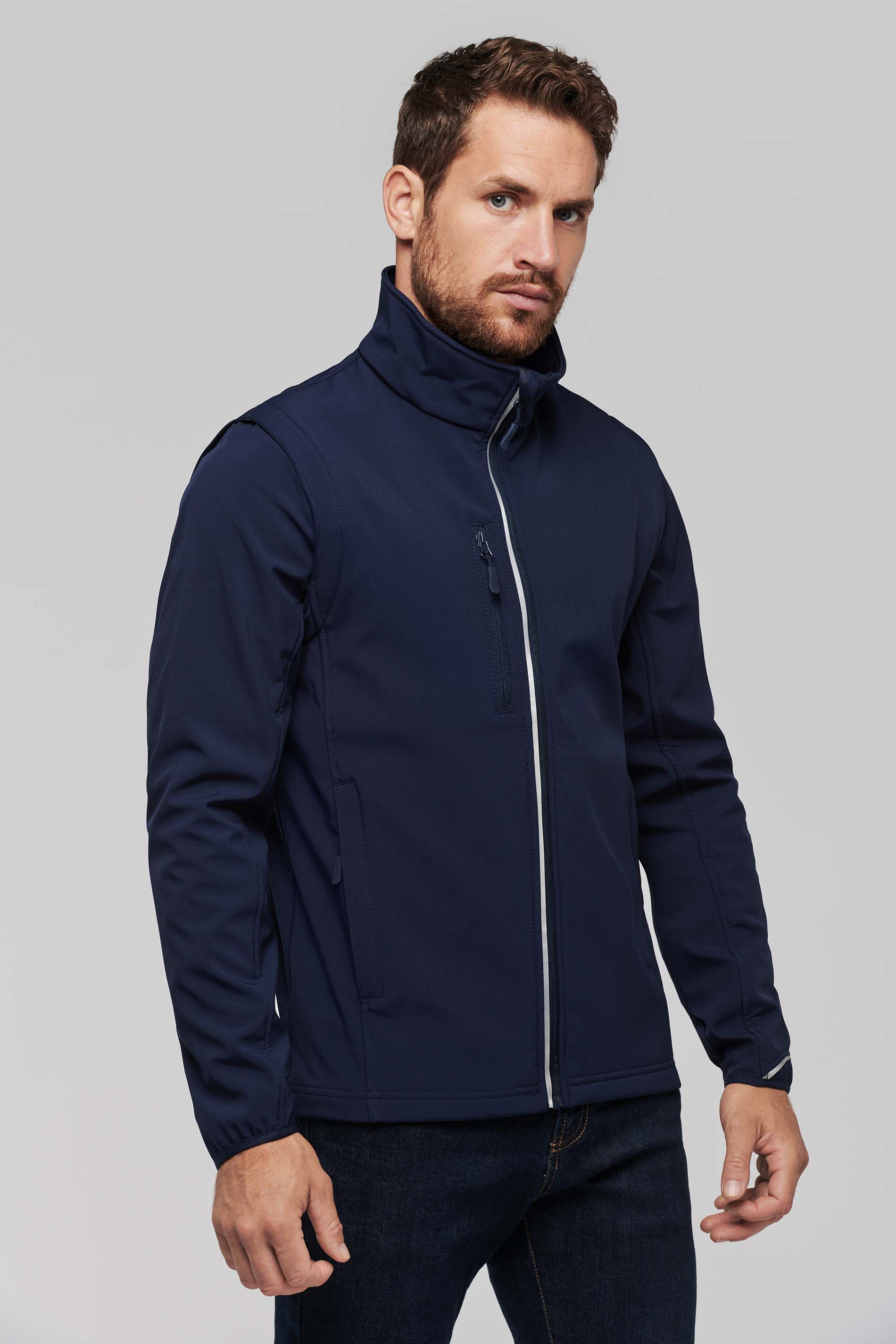Proact VESTE SOFTSHELL SPORT MANCHES AMOVIBLES UNISEXE