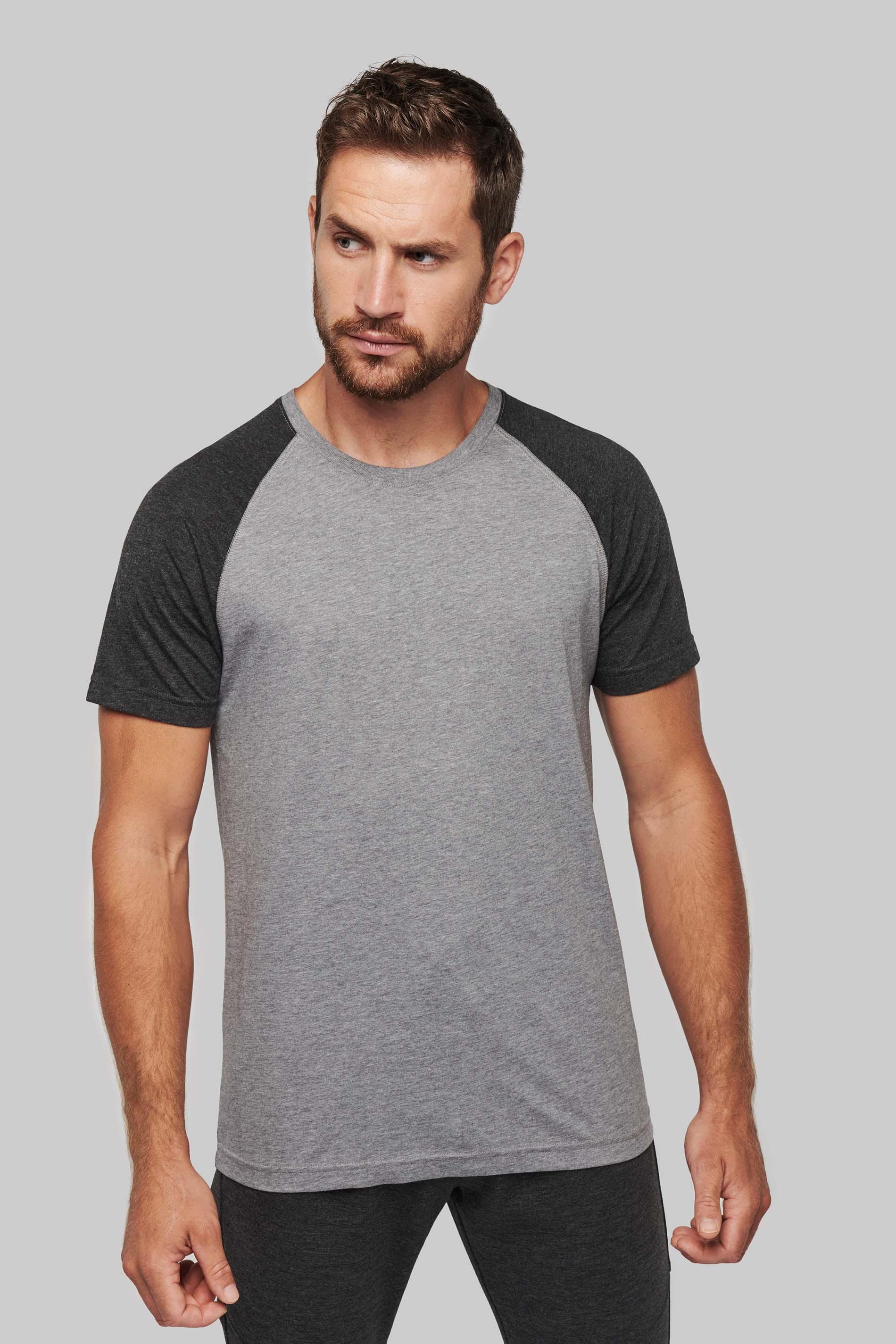 Proact T-shirt bicolore sport manches courtes adulte