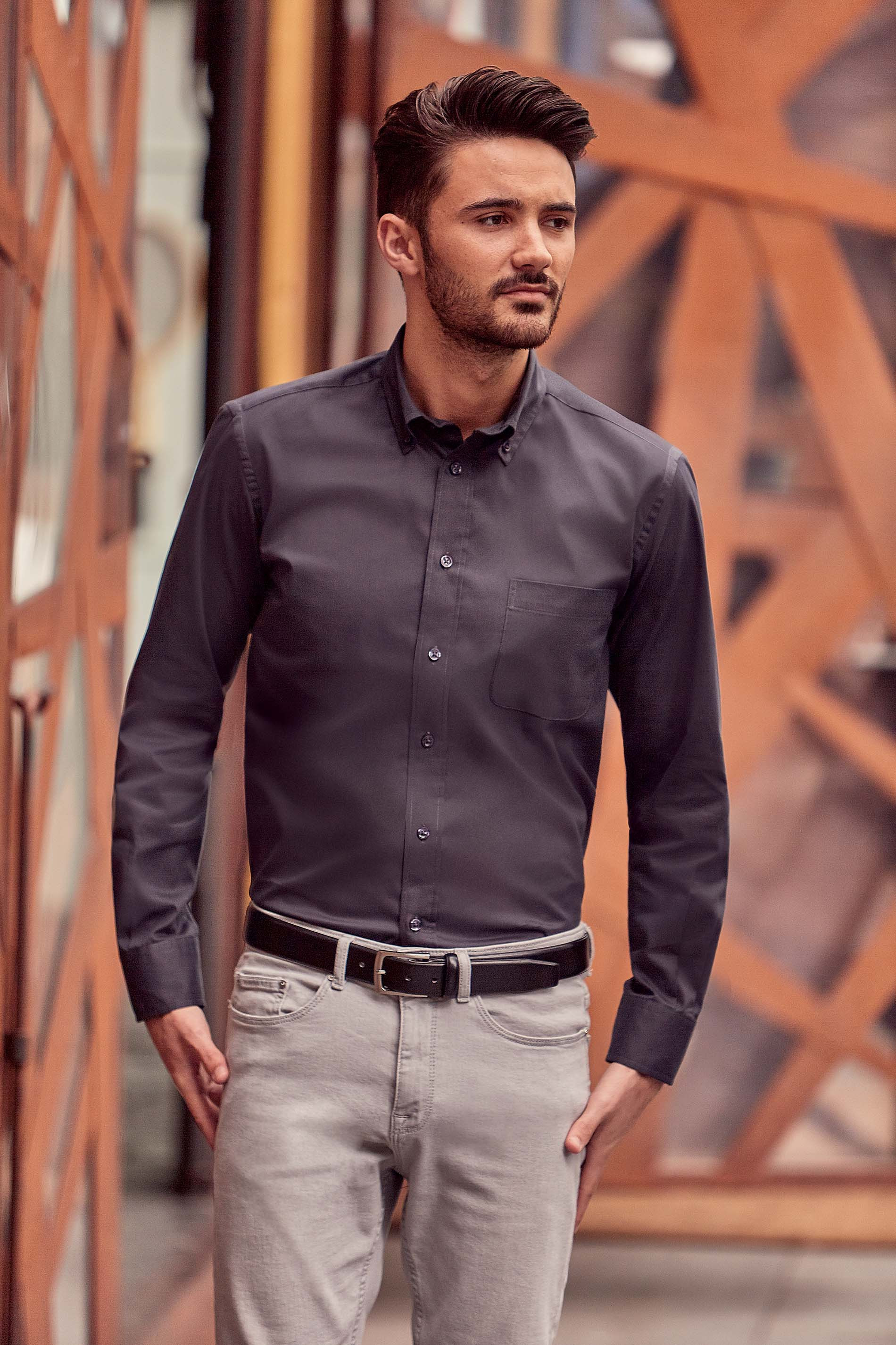 Russell CHEMISE HOMME MANCHES LONGUES TWILL