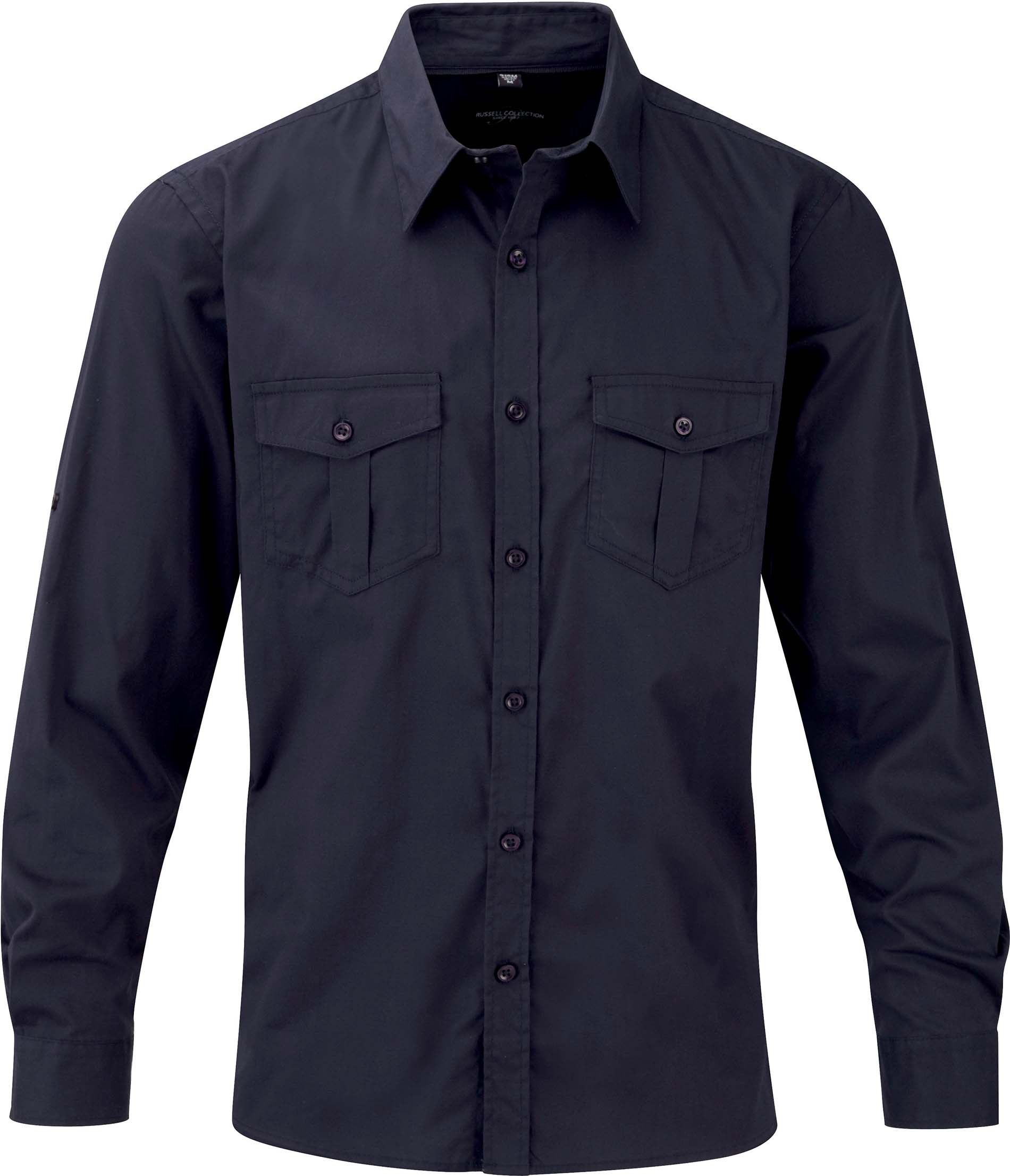 Russell CHEMISE HOMME MANCHES LONGUES TWILL ROLL-UP