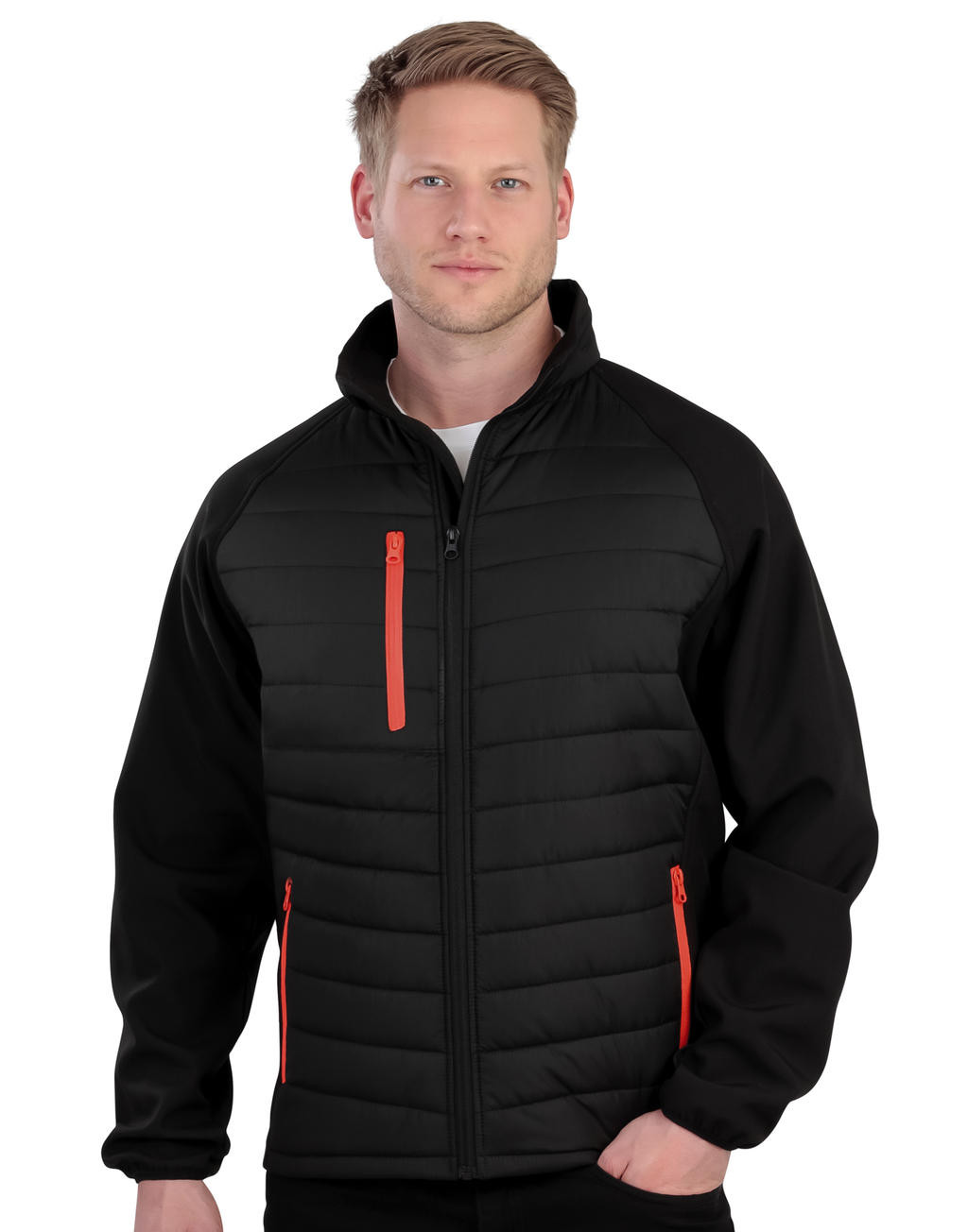 Result Black Compass Padded Softshell