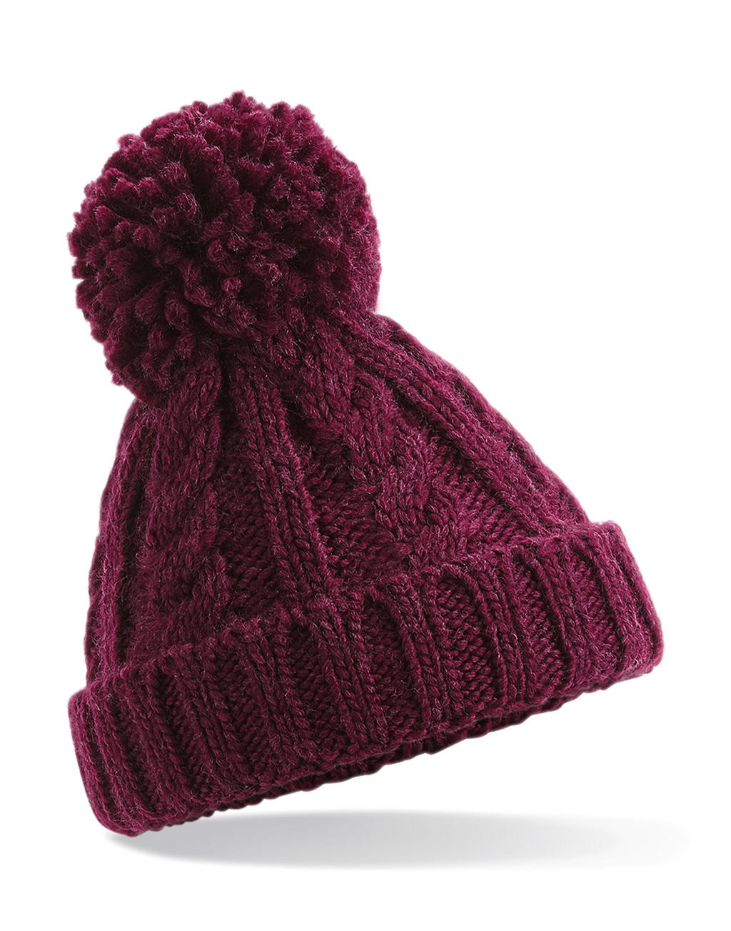 Beechfield Infant/Junior Cable Knit Melange Beanie