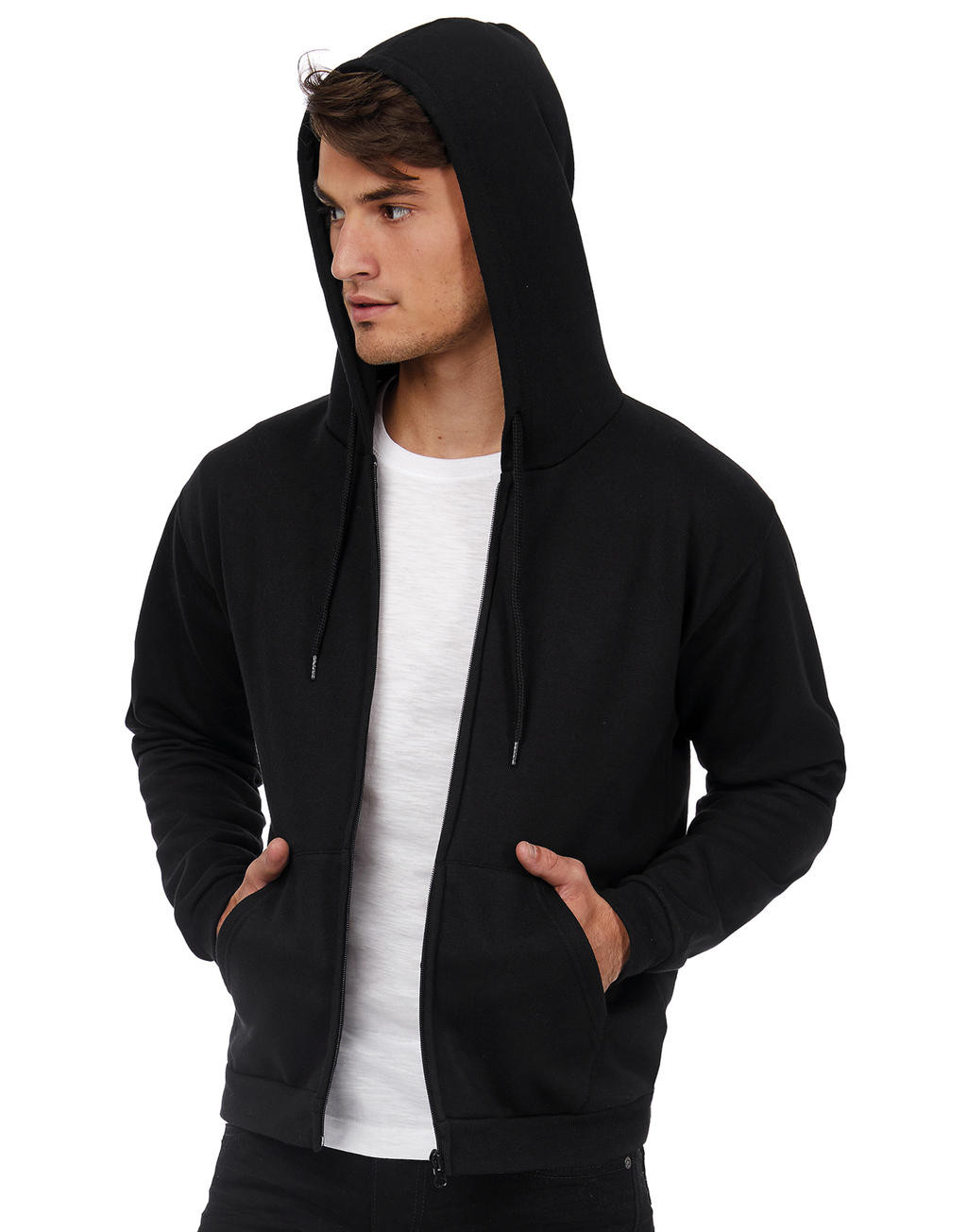 B&C ID.205 50/50 Hooded Full Zip Sweat Unisex